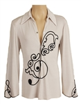 Prince Stage Worn Domenic Serio Custom Embroidered Shirt