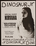 Nirvana/Dinosaur Jr. Original 1991 Concert Flyer (with Hole as Opening Act)
