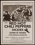 Red Hot Chili Peppers/Guns n Roses Early Original Concert Flyer