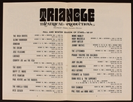 The Doors, Cream (Eric Clapton) and More Original 1968-69 Triangle Theatrical Productions Concert Program