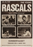 The Young Rascals 1969 Original Over-Sized One Sheet Swedish Concert Poster