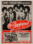 The Jacksons Original 1979 World Tour Concert Poster