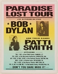 "Bob Dylan and Patti Smith Original ""Paradise Lost Tour"" Concert Poster"