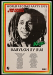 Bob Marley Original 1978 Babylon By Bus Tour Concert Poster
