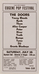 The Doors, The Byrds, Alice Cooper and More Original Eugene Pop Festival Concert Poster