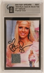 Britney Spears Signed Pepsi Wardrobe Card