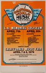 California World Music Festival Original Concert Poster Featuring Aerosmith, Van Halen, Cheap Trick and More