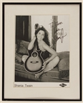 "Shania Twain Signed & Inscribed Photograph and ""Up"" Promotional Album Banners (2)"