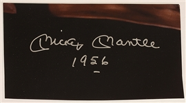 Mickey Mantle 1956 Signature