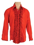 James Brown Stage Worn Red Ruffled Shirt