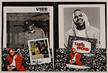 "Chris Brown ""Snippet Sampler"" Original Press Packet with Signed Photograph"
