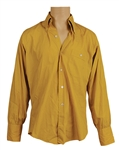 James Brown Owned & Worn Mustard Yellow Button Down Shirt