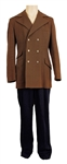 James Brown Owned & Worn Brown Wool Jacket with Dark Blue Pants