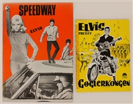"Elvis Presley Rare Norwegian and Swedish ""Speedway"" and ""Roustabout"" Movie Theater Programs"