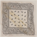 "Tupac Shakur Owned & Worn White ""Do-Rag"" Bandana"