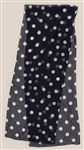 Prince Stage Worn Long Navy Blue Sheer Scarf with White Polka Dots