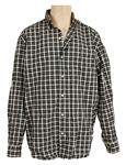 Michael Jackson Owned & Worn Long-Sleeved Button Down Checked Shirt