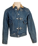 Michael Jackson Owned & Worn Denim Jacket with Corduroy Collar and Metal Clasps