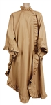 James Brown Owned & Worn Long Tan Ruffled Cape