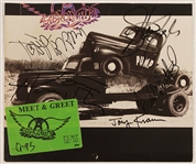 "Aerosmith Signed ""Pump"" Album Cover Promotion"