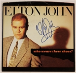 "Elton John Signed  ""Who Wears These Shoes"" 45 Record"