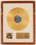 "Beatles ""Rubber Soul"" Original RIAA White Matte Gold LP Record Album Award"