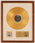 "Beatles ""Magical Mystery Tour"" Original RIAA White Matte Gold LP Record Album Award"