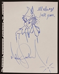 "Michael Jackson Signed and Inscribed ""Peter Pan with Crystal Glove"" Drawing"