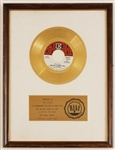"""Hello, I Love You"" Original RIAA White Matte Gold Record Award Presented to The Doors"