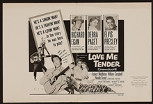 "Elvis Presley ""Love Me Tender"" Original Movie Poster"