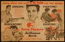 "Elvis Presley ""Jailhouse Rock"" Original Movie Poster"