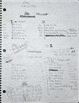 "Tupac Shakurs ""Me Against The World"" Notebook of Handwritten Lyrics,  Set Lists and More"
