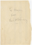 Paul McCartney Vintage Signed and Inscribed Sheet Music