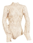 "Jennifer Lopez ""People En Espanol"" Magazine Worn Michael Costello Custom Lace Bodysuit"