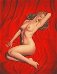 Greg Hildebrandt Signed Original Marilyn Monroe American Beauties Retro Pin-Up Acrylic Painting (#107)