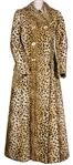 Madonna Owned and Re-Gifted Dolce & Gabbana Faux Leopard Fur Coat Circa Mid- 1990's