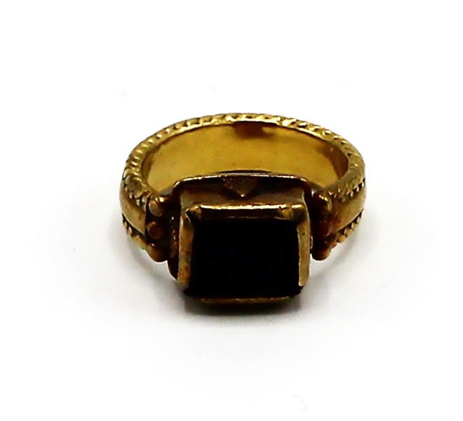 Madonna Owned and Gifted: A 24K gold and tourmaline ring, 1995