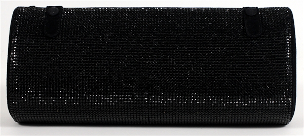Madonna Owned and Re-Gifted Gianni Versace Black Baguette Clutch Handbag Circa Late 1990's