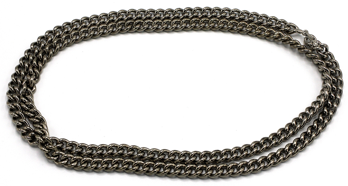 Madonna Worn Motorcycle-Style Chain Necklace