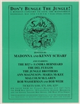 Madonna and Kenny Scharf Original 1989 Save the Rainforest Benefit Concert Poster Featuring The B-52s, Bob Weir and More
