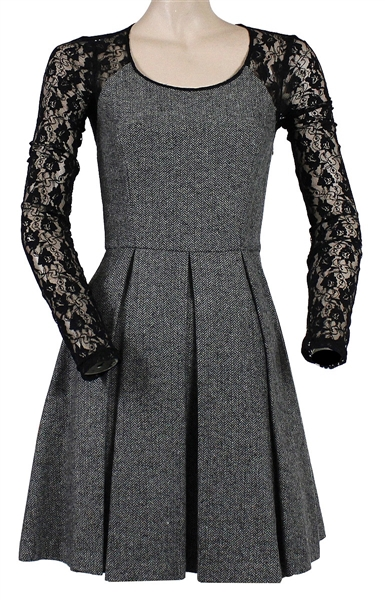 "Taylor Swift ""Good Morning America"" Screen Worn Grey & Black Lace Dress"