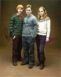 Daniel Radcliffe, Emma Watson and Rupert Grint Signed Harry Potter Photograph