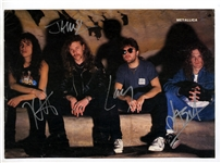 Metallica Signed Magazine Page