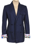 Prince Stage Worn Versace Navy Blue and Black Pinstriped Jacket