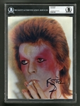 David Bowie Signed Picture Certified by Beckett