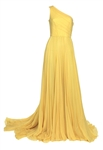 Alicia Keys 2009 Vanity Fair Oscars After-Party Worn Max Azria Atelier Custom  Yellow Gown