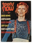 "David Bowie Signed ""Teens Now"" Magazine"
