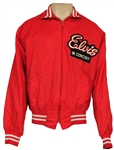 """Elvis In Concert"" Vintage Red Nylon Tour Jacket"