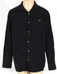 Ed Sheeran Owned & Worn Dark Blue Corduroy Shirt