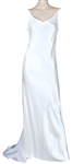 "Britney Spears ""Im Not a Girl, Not Yet a Woman"" Record Promotion Worn Custom Long White Satin Dress"